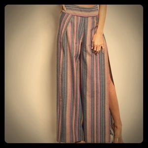 Pants - NWT Slit Striped Pants (Top Not Included)